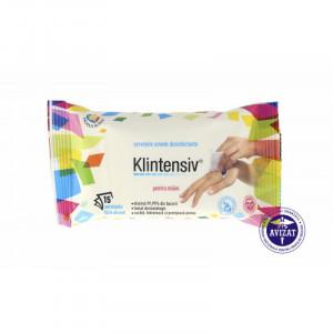 KLINTENSIV - Servetele umede dezinfectante pentru maini 15 buc