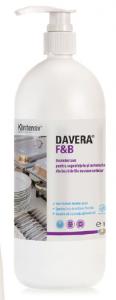 DAVERA  F&B 1L - Dezinfectant pentru suprafete RTU pentru restaurante, cantine si alte locuri publice de servire a mancarii